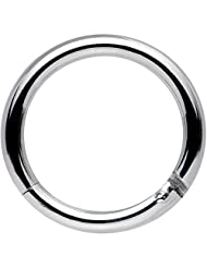 """Body Candy Stainless Steel Hinged Segment Ring Circular Barbell 14 Gauge 3/8"""""""