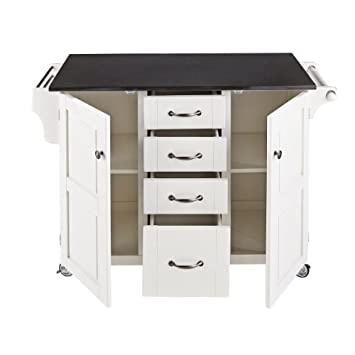 Home Styles 9100-1026G Create-a-Cart, White Finish with Oak Top