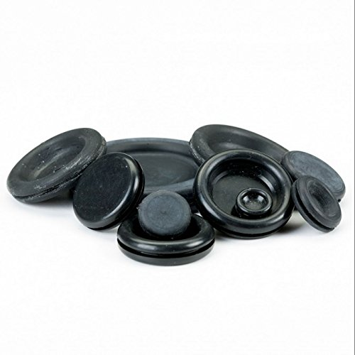 Innovo 36 Mix Closed Blanking Grommets 6mm 9mm 12mm 16mm 20mm 25mm Hole Cover Closed Bung Stopper Rubber Black 6 Of Each Size