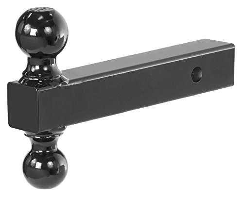 Prime Steel 18087 Black-Chrome Dual Ball Mount ( - Hollow - 2- X 2-5/16-Inches - - Bike Carrier Mounted Tow Bar