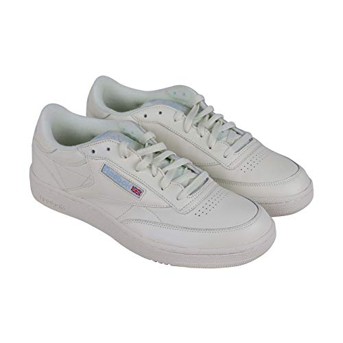 Reebok Men's Club C 85 Sneaker, Classic White/Denim Glow, 11.5 M US