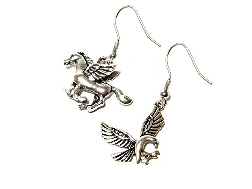 Dangle Earrings Percy Jackson Pegasus & Phoenix In Gift Box by Superheroes