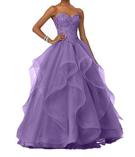 Langes Abschlussballkleider Linie Promkleider Charmant A mit Damen Partykleider Lilac Steine Abendkleider Prinzess 8q05I