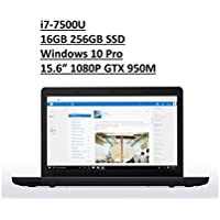 2017 Lenovo ThinkPad E570 15.6 Business Laptop: Full HD (1920x1080) IPS Anti-Glare, Intel Core i7-7500U, 256GB SSD, 16GB DDR4, NVIDIA GTX 950, FingerPrint, Windows 10 Pro (Certified Refurbished)