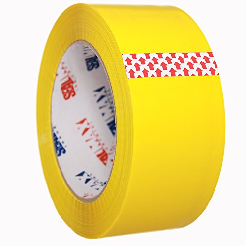 Packing Tape SealMax By TOTALPACK - Heavy Duty, Adhesive Acrylic Base Sticks On Any Surface - 2 Mil Thickness - 2 inches x 110 Yard - Meets All UPS & US Postal Regulations, Yellow Colored Tape, 1 Roll