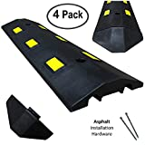 Electriduct Ultra Light Weight Economy Speed Bump - Black - 4 Pieces (12 Feet) - Asphalt
