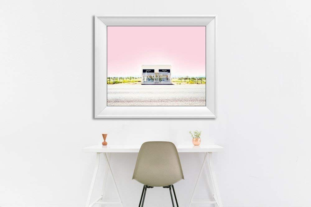 Prada Marfa pink decor Texas photography 8x10 inch print