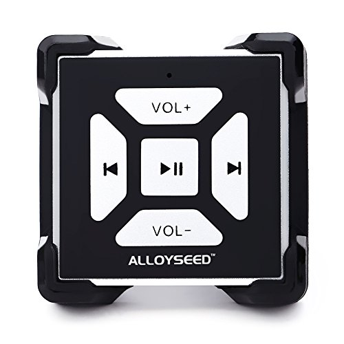 Bluetooth Media Button, Alloyseed BT-M2 Remote Music Controller with Clip on Type Handlebar Mount Bluetooth Media Button for iPhone 6/6S/6 Plus/6S Plus/7/7 Plus, Samsung Galaxy S7/S6/S7 Edge/S6 Edge
