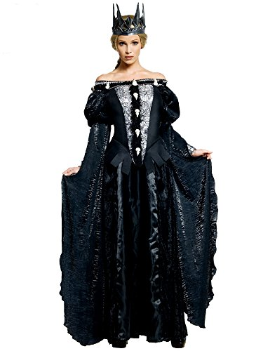 Snow White and The Huntsman Adult Queen Ravenna Skull Dress Costume, Black, Large