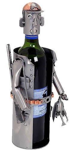 Cheap H&K Sportsman or Hunter Recycled Steel Wine Bottle Caddy – 6052-LI
