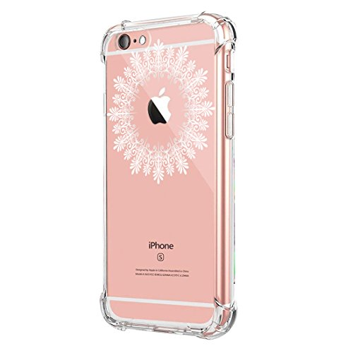 Price comparison product image iPhone 6 6s Plus Case Ultra Slight Slim-Fit Air Cushion Technology Flexible TPU Transparent Protective Cover (6, iPhone 6 6s Plus)