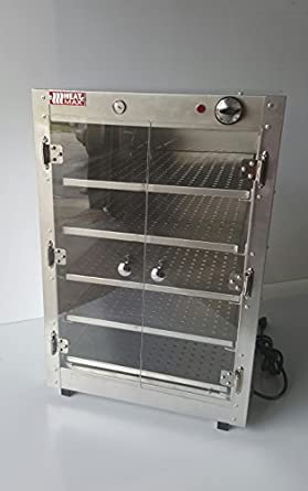 HeatMax 19x19x29 Commercial Food Pizza Pastry Patty Catering Hot Box  Countertop Warmer Case