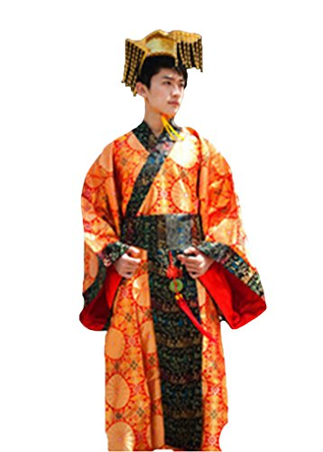 Bysun men's costume Han Chinese clothing Lily OrangeFS ()