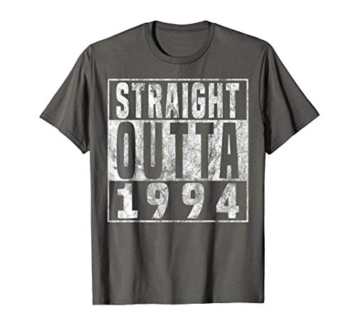 Straight Outta 1994 25th Birthday Gift Shirt 25 years old T-Shirt (Birthday Gift Ideas For 25 Year Old Female)
