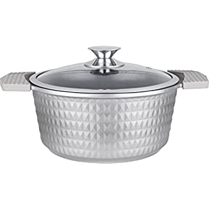 Imperial BSG-20 Diamond Pot Cut Stockpot, 3 quart, Silver