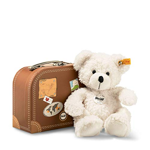 Steiff Lotte Teddy Bear in Suitcase Plush, White