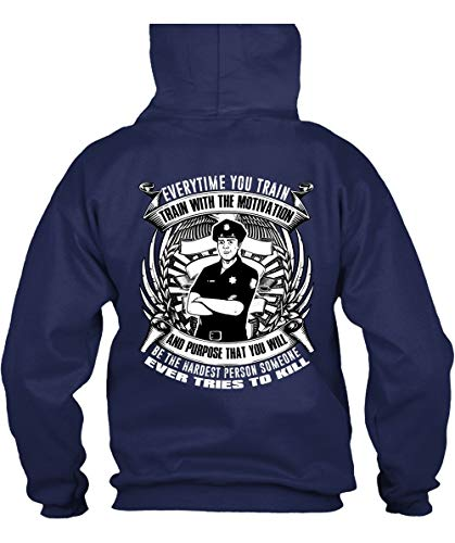 CLTEE You Will Be The Hardest Person Hoodies, Train with The Motivation T Shirt-Hoodie (M, Navy) ()