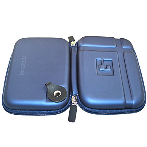 5'' Inch Hard Carrying Travel GPS Case Bag Pouch Protective Shell For 5'' 5.2 Inch Garmin Nuvi 55LM 54LM/54 52LM/52 2597LMT 2577LT 2557LMT 3597LMT TomTom Magellan RoadMate Devices Blue by Teaeshop (Image #3)'