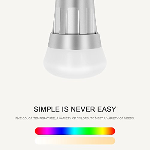 kimitech smart bulb alexa wifi led light bulbs 6000k rgb multi color dimmable no hub required. Black Bedroom Furniture Sets. Home Design Ideas