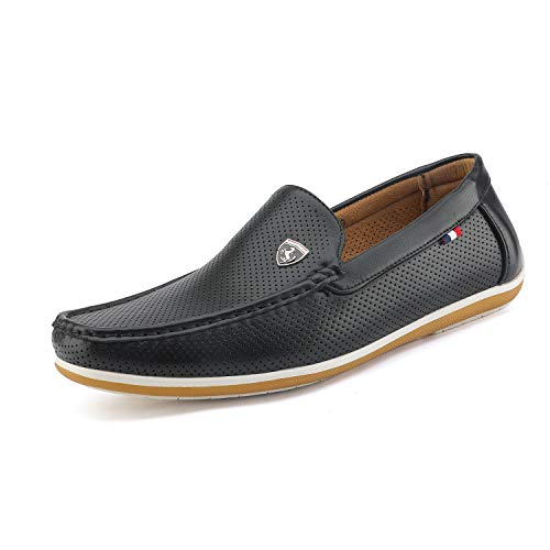 Bruno Marc Men's BUSH-02 Black Driving Loafers Moccasins Shoes Size 12 M US