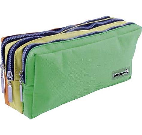 Liderpapel Estuche Bolso Escolar portatodo Rectangular 3 Bolsillos Colores Pasteles 195x70x80 mm.: Amazon.es: Juguetes y juegos