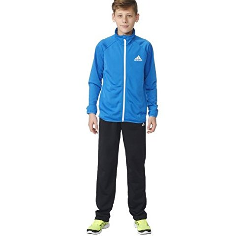 adidas Jungen Price Entry Trainingsanzug, Top:Shock Blue Bottom:Black/White, 140