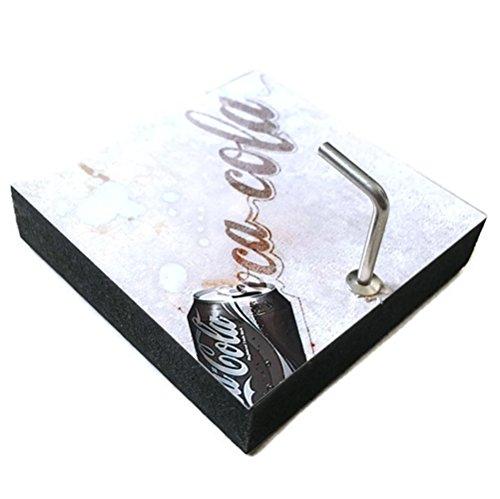 Agility Bathroom Wall Hanger Hat Bag Key Adhesive Wood Hook Vintage White Coca Cola Coke's Photo ()