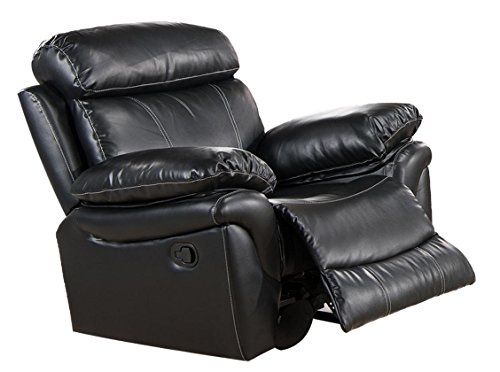 Milton Greens Stars Sophia Rocking Recliner Chair, 44-Inch by 38-Inch by 40-Inch, Black (Green Motion Recliner Chair)