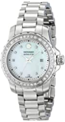 "Movado Women's 2600120 ""Series 800"" Stainless Steel Diamond Bracelet Watch"