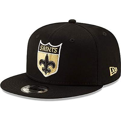 New Era New Orleans Saints Hat NFL Black Team Color Logo 9FIFTY Snapback Adjustable Cap Adult One Size