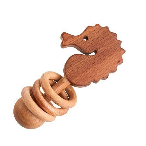 Wooden rattle Seahorse