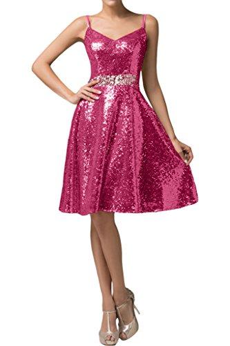 missd ressy Donna A linea di paillette breve istituzione Pieghe Party Dress abito da cocktail dress fucsia 44