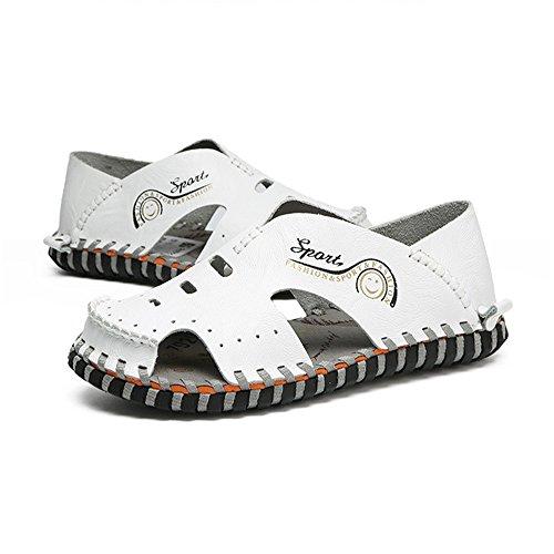2 In Bianchi Per Dimensione Sandali Bianca EU Traspiranti Bianca 3 Pelle Traspiranti Scarpe Uomo Wagsiyi da 40 Colore pantofole Caviglia spiaggia Con E0zqUU