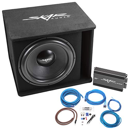 Skar Audio Single 18″ Complete 1,200 Watt SDR Series Subwoofer Bass Package – Includes Loaded Enclosure with Amplifier