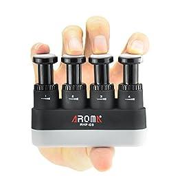 Finger Strengthener,4 Tension Adjustable Hand Grip Exerciser Ergonomic Silicone Trainer for Guitar,Piano,Trigger Finger…