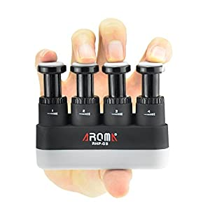 OIBTECH Finger Strengthener,4 Tension Adjustable Hand Grip Exerciser Ergonomic Silicone Trainer for Guitar,Piano,Trigger… 12