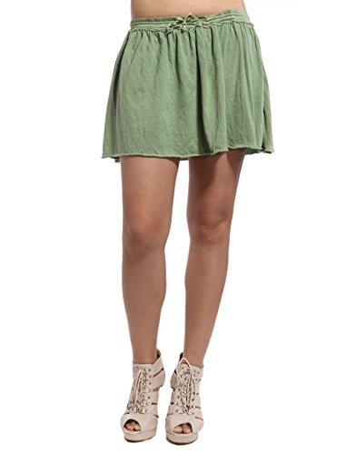 Da Nang Womens Fashion Summer Cotton Mini Skirts Ladies Hot Shorts Green M
