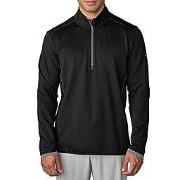 Adidas Golf 2016 Climaheat Half Zip Premium Soft Fleece Insulation Mens Performance Golf Jacket Black/Vista Grey Small