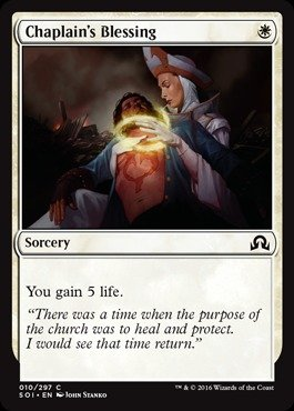 Magic: the Gathering Chaplain39;s Blessing (010/297) - Shadows Over Innistrad