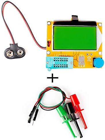 Zhichuang Medidorデtransistores ESR、probadorデジタルLCR Mega328 V2.68、triodoデdiodoデESR-T4、capacitancia MOS/PNP/NPN LCR 12864、probadorデpantalla LCD (色 : With Test Hooks)