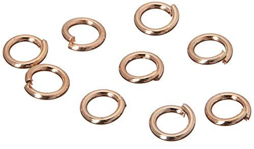 - Jewelry Designer RG1014 Jump Ring Rose Gold 18Gauge 5Mm 80Pc