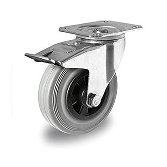 der Rollende Shop - Rueda de recambio para muebles con ruedas con freno (125 mm