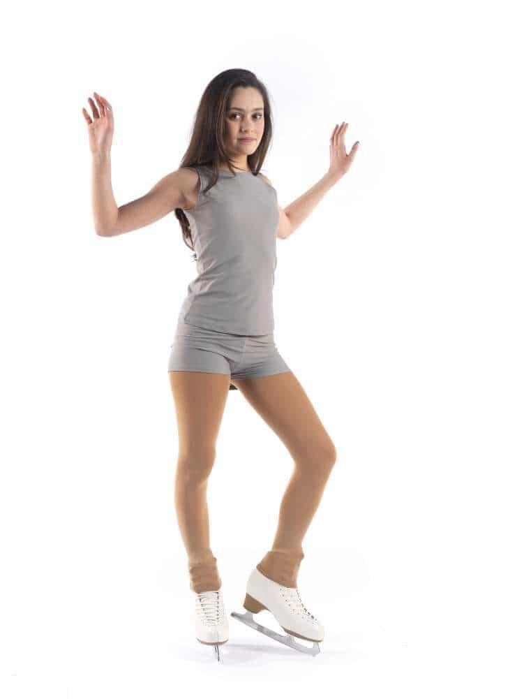 SAGESTER - Figure Skating Footless Tights / 80 den/Color - Nude, Skin/Size: M