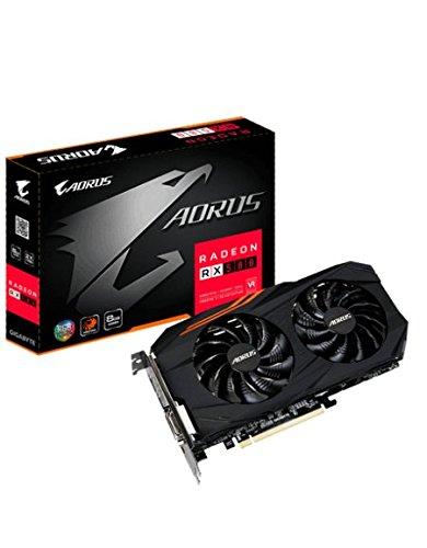 Gigabyte Aorus RX580 - Tarjeta gráfica RX580 8GB GDDR5 (Radeon RX580, 256 bit, 7680 x 4320 Pixeles, PCI Express x16 3.0)