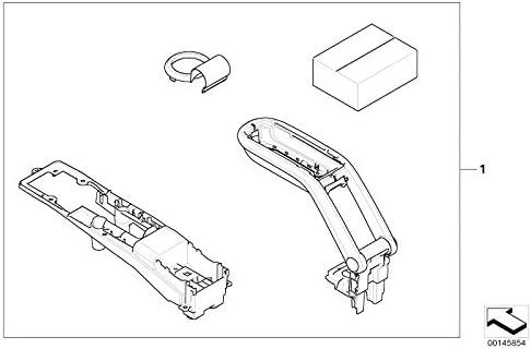Mini Genuine Front Armrest Retrofit Kit In Anthracite R50 R52 R53