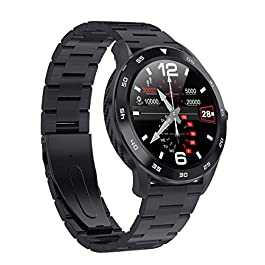 DSMART S5 ECG+PPG Dual Heart Rate Monitor Fitness Health Smart Watch Sports Activity Tracker Watch with Blood Pressure Oxygen SpO2 Monitor, IP68 Waterproof Touch Screen Making Bluetooth Call
