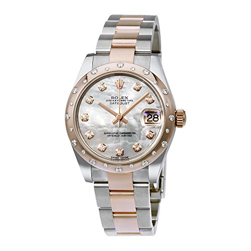Rolex Oyster Perpetual Datejust 31 White Mother Of Pearl Dial Stainless Steel and 18K Everose Gold Rolex Oyster Automatic Ladies Watch 178341MDO