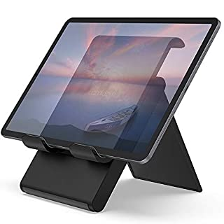 """Lamicall Adjustable Tablet Stand Holder - Foldable Desktop Stand Charging Dock for Desk Compatible with iPad Air Mini Pro 9.7,12.9, Phone 11 XS Max XR X Plus S10 S9 S8 Smartphones(4-13"""")"""