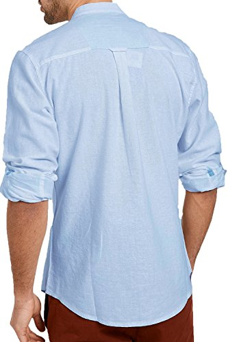 Threadbare - Camisa casual - camisa - para hombre azul claro