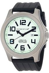 Momentum by St Moritz watch corp Cobalt Lite Titanium Watch with Rubber Strap